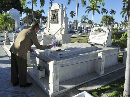 raul castro, revolucion cubana, homenaje a heroes y martirez de la patria, santiago de cuba