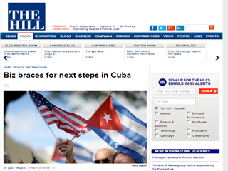 Voceros de varios grupos de negocios esperan que crezca en el Legislativo norteamericano el apoyo a la decisión del presidente Barack Obama de cambiar la política hacia la isla.