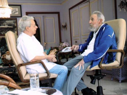 Encuentro de Fidel con Frei Betto el domingo 16 de febrero de 2014. (foto: Archivo)