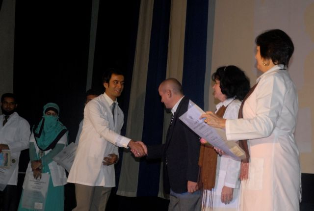sancti spiritus, medicina, facultad de medicina faustino perez, paquistan, estudiantes pakistanies