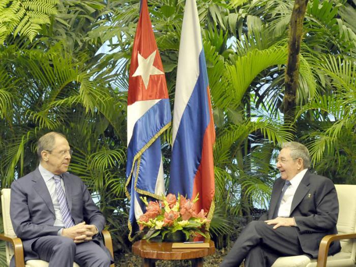 Raúl y Lavrov resaltaron el excelente estado de las relaciones bilaterales.