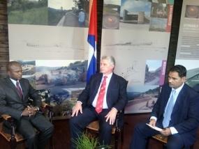 Díaz-Canel señaló que de Sudáfrica se lleva la impresión de un pueblo que quiere mucho a Cuba.