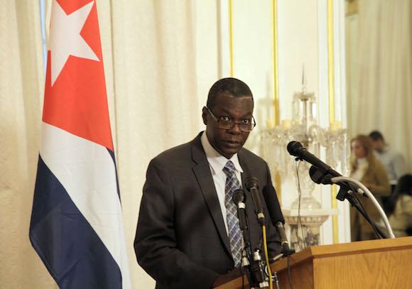 Pedro Luis Pedroso, subdirector general de asuntos multiraterales y de derecho internacional de la cancilleria, encabezó la delegación cubana. Foto: Ismael Francisco/Cubadebate.