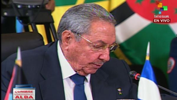 El presidente de Cuba, Raúl Castro condenó la arremetida estadounidense contra Venezuela. | Foto: teleSUR.