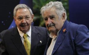 Raúl sostuvo este domingo un encuentro con el presidente saliente José Mujica.