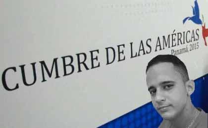 El universitario espirituano forma parte de la comitiva encargada de representar a la juventud cubana en los foros de la Cumbre de las Américas.