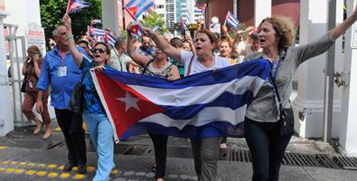 Representantes de la sociedad civil cubana.