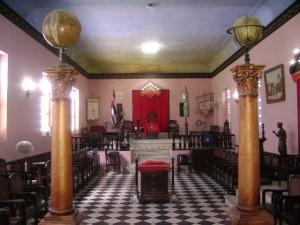 Salón principal de la Logia Obreros del Yayabo.