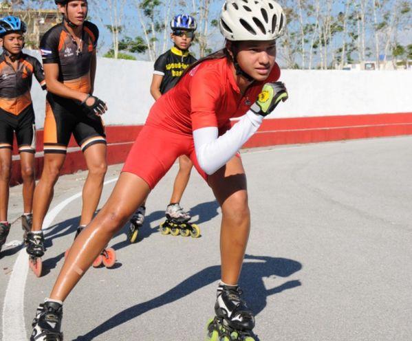 Haila Brunet se confirmó como la más promisoria patinadora cubana.