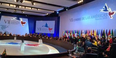 Primera Sesión Plenaria de la VII Cumbre de las Américas. Foto: Twitter