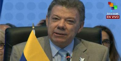 Juan Manuel Santos abrió la ronda de intervenciones de los 35 mandatarios que acuden a VII Cumbre de las Américas.