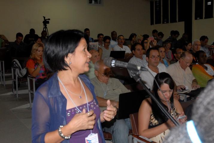 Delia Proenza, periodista de Escambray (Foto: Reidel Gallo).