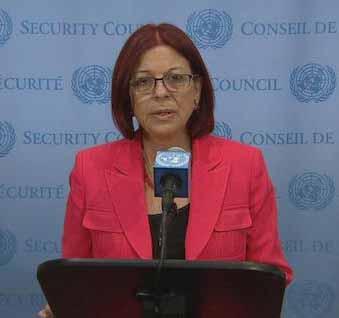 La representante permanente de Argentina ante la ONU, María Cristina Perceval.