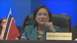 Persad-Bissessar solicitó alzar las voces contra la orden ejecutiva de Obama.