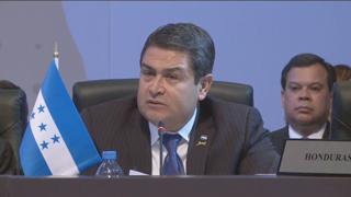 El presidente hondureño recordó que entre el 80 y 90 por ciento de la violencia en Centroamérica tiene su raíz en el narcotráfico.