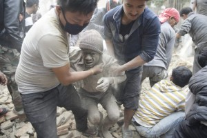 Terremoto en Nepal. Foto: EFE.
