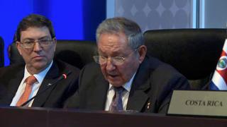 Raúl agradeció la solidaridad de todos los países que hicieron posible la participación de Cuba por primera vez en una Cumbre de las Américas.