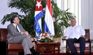 Díaz-Canel y Koenders destacaron el buen estado en que se encuentran las relaciones bilaterales.