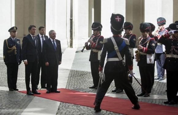 cuba, raul castro, italia, primer ministro de italia, Matteo Renzi