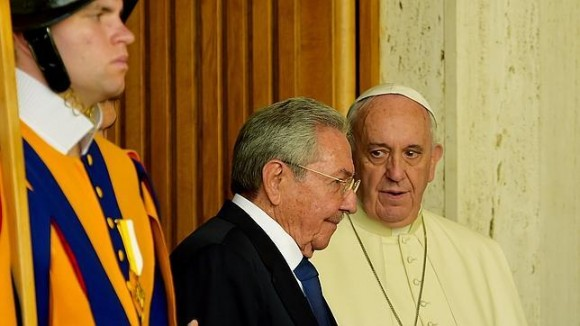 cuba, raul castro, papa francisco, el vaticano, italia, santa sede