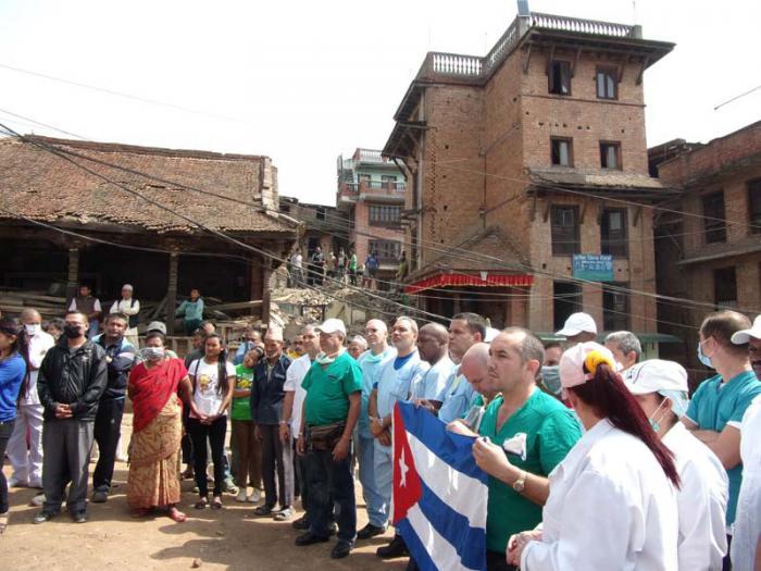 cuba, brigada medica cubana, nepal, terremoto en nepal