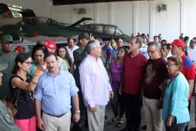 Los Cinco visitaron la casa natal del líder bolivariano, en Sabaneta, estado de Barinas.
