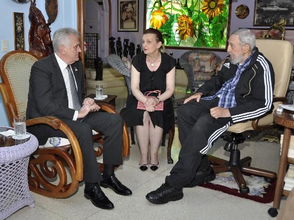 cuba, fidel castro, presidente de serbia, Tomislav Nikolić