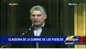 Díaz-Canel transmitió un saludo del líder de la Revolución Fidel Castro, el presidente Raúl Castro y del pueblo cubano a la cita cimera.