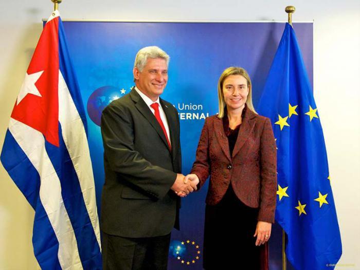 El encuentro de Díaz-Canel con Federica Mogherini se produjo en momentos en que La Habana y la UE avanzan en las negociaciones iniciadas en 2014.