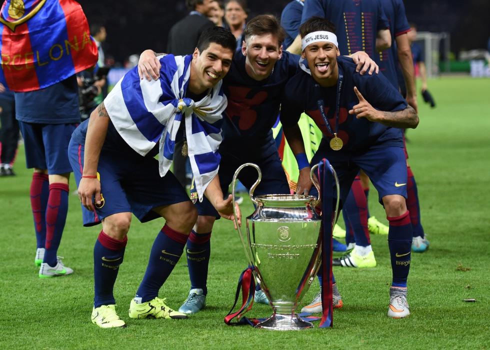 El tridente el Barcelona mucho aportó para el logro de la Copa.