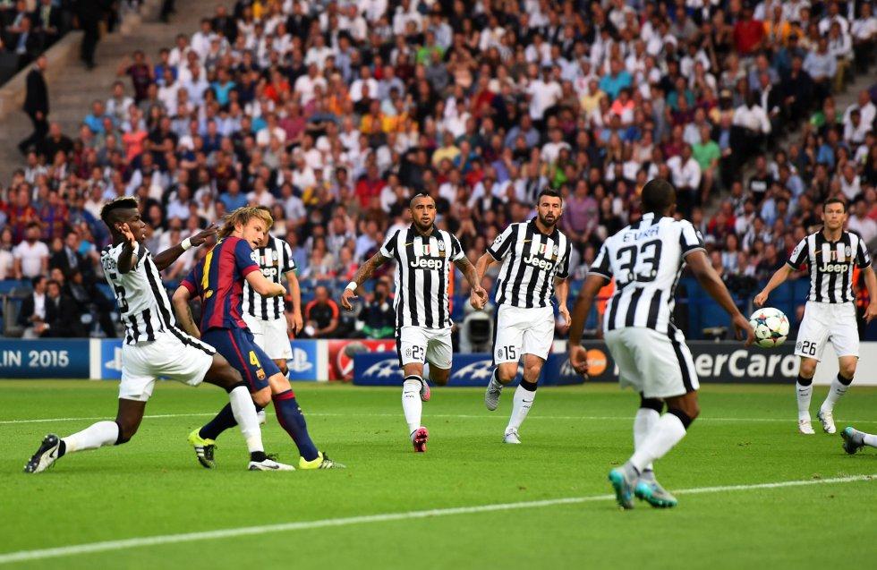 Rakitic marcó el primer gol del partido.