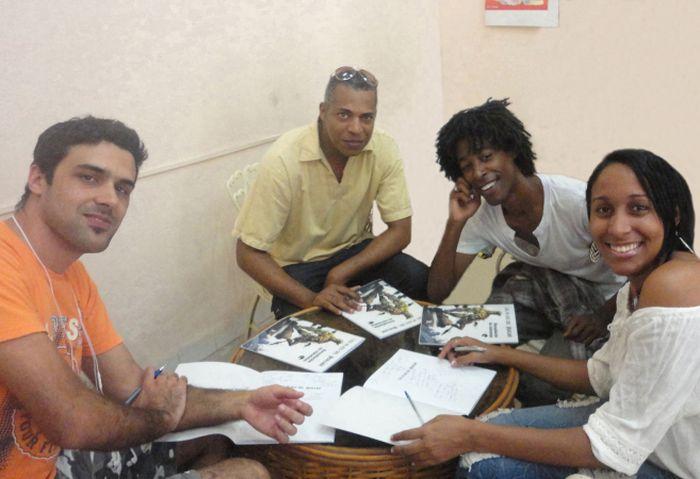 De izquierda a derecha, Osvaldo Pestana, Fermin Vega, Dariee Valle Borges y Milagro de las Mercedes Ortiz.