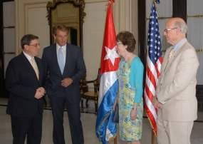 El encuentro del jefe de la diplomacia cubana con los políticos norteamericanos se efectuó en la sede de la Cancillería.