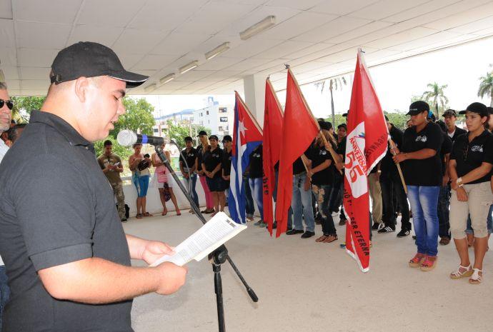 sancti spiritus, comite de defensa de la revolucion, jovenes, cdr, destacamento juvenil 55 aniversario de los cdr