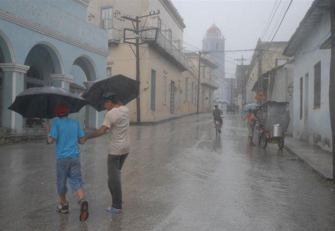 sancti spiritus, intensas lluvias, pronostico del tiempo