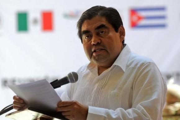 Miguel Barbosa Huerta, presidente de la Mesa Directiva del Senado de México.