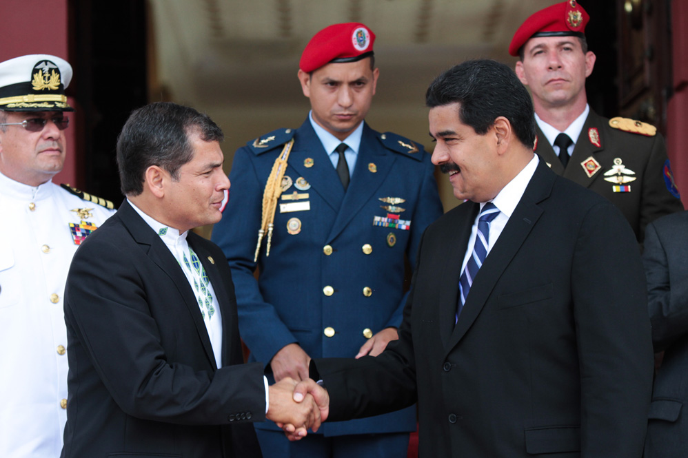 Maduro llamó a sumarse a la jornada internacional de solidaridad con Ecuador y su presidente Rafael Correa.