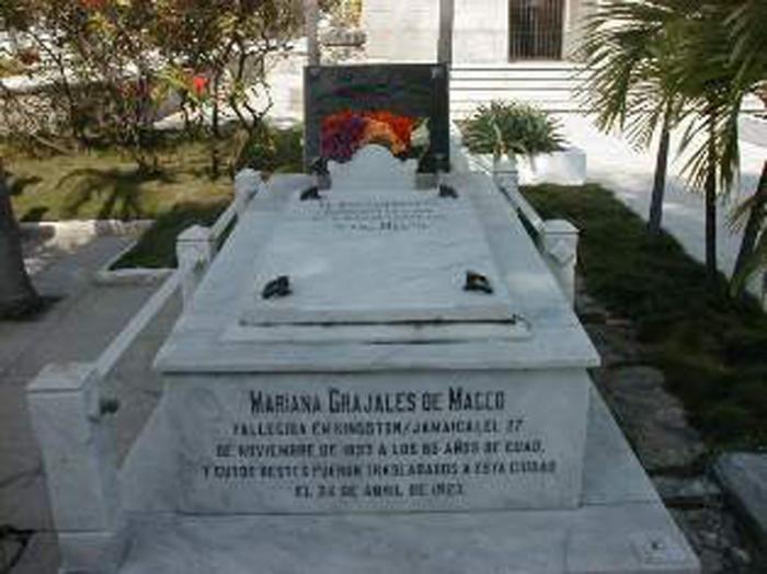 Nicho de Mariana Grajales en el cementerio Santa Ifigenia en Santiago de Cuba.