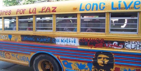 En Cuba, Caravana estadounidense por la paz