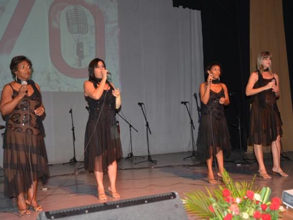 Momento de la gala de premiaciones del XXIV Festival Provincial de la Radio.