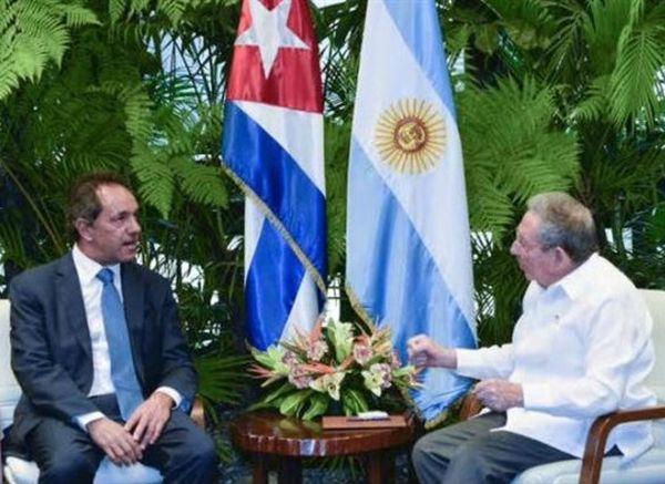 cuba, argentina, raul castro, daniel scioli, gobernador de buenos aires