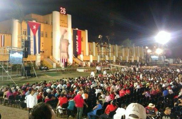 sanctiago de cuba, cuba, 26 de julio, aniversario 62 del asalto al cuartel moncada, dia de la rebeldia nacional, raul castro