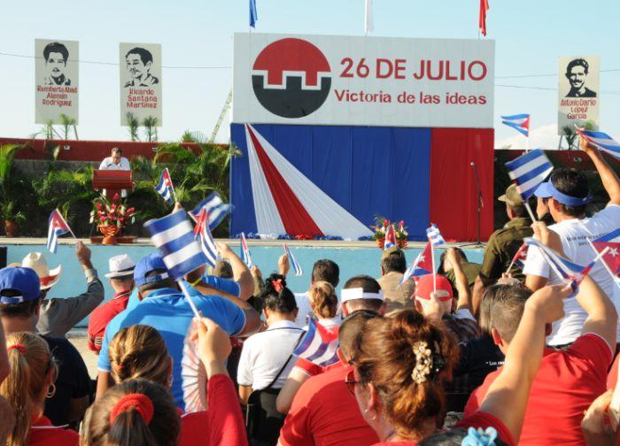 Cabaiguán rindió homenaje de recordación a los tres espirituanos participantes en el Moncada: Reemberto Abad Alemán, Ricardo Santana Martínez y Antonio Darío López.
