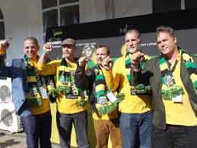 Los Cinco llegaron a Namibia luego de cumplir una intensa agenda de diez días en Sudáfrica.