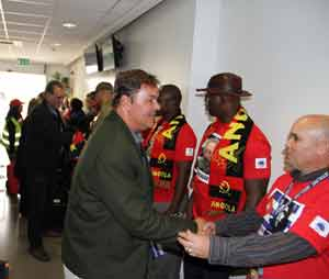 Angola es la tercera etapa del recorrido africano (del 21 de junio al 8 de julio) de los Cinco.