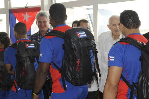 CUBA-LA HABANA-DESPIDE DÍAZ-CANEL AVANZADA DE ATLETAS CUBANOS QUE COMPETIRÁN EN PANAMERICANOS DE TORONTO