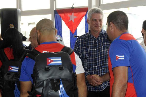 deportisteas cubano, cuba, juegos panamericanos, toronto 2015, miguel diaz-canel