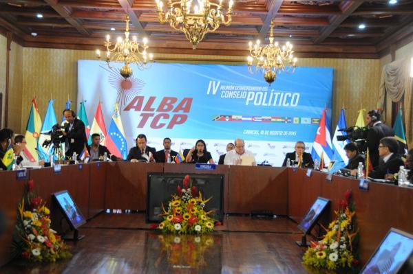 IV reunión extraordinaria del Consejo Político del ALBA-TCP, celebrada en Caracas. Foto AIN.