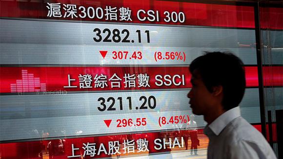 China experimentó la mayor caída desde el año 2007.