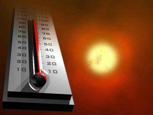 La temperatura de la superficie de la tierra a nivel mundial tuvo un promedio en julio de 0,96 ºC por encima del promedio del siglo pasado.